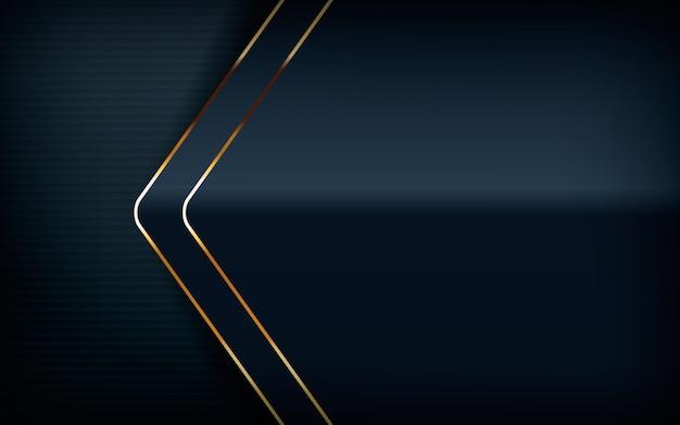 Forma moderna com fundo da linha de luz dourada