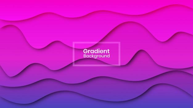Forma ondulada com fundo gradiente de sombra