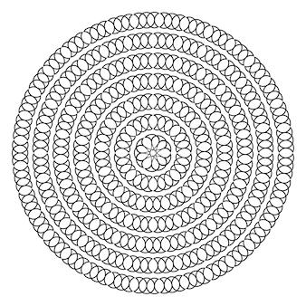 Forma redonda com pontos de círculo modelo para elemento de design de molduras de bordas