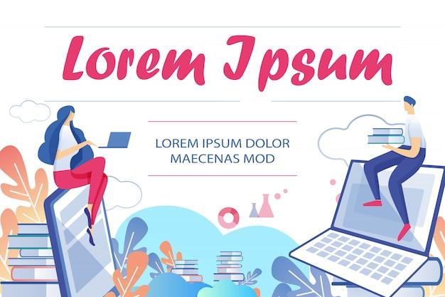 Formação de alunos por livros digitais e internet