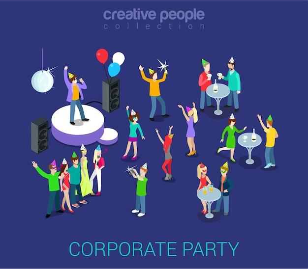 Formação de equipe para evento de feriado e festa corporativa
