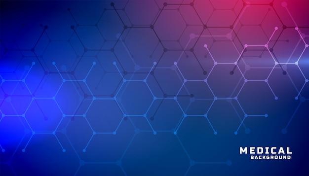 Formação médica com formas hexagonais