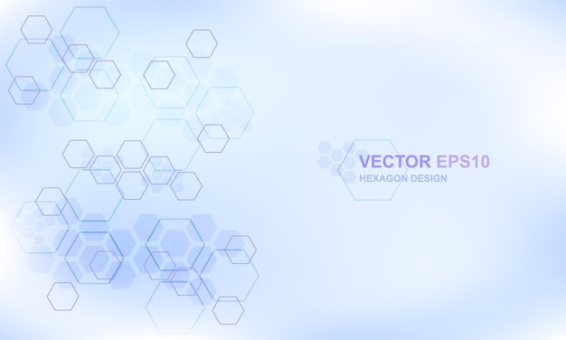 Formação médica do conceito do hexágono de tecnologia. fundo moderno futurista de alta tecnologia.