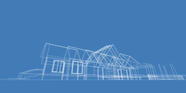 Formas abstratas arquitetônicas, ilustração 3d do arco da arquitetura abstrata.