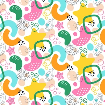 Formas abstratas coloridas de estilo simples