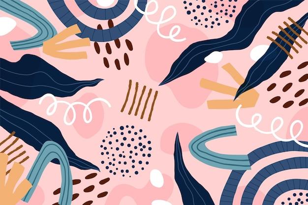 Formas abstratas de design plano desenhado à mão