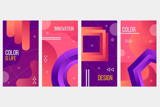 Formas abstratas de gradiente cobrem o conceito de coleção
