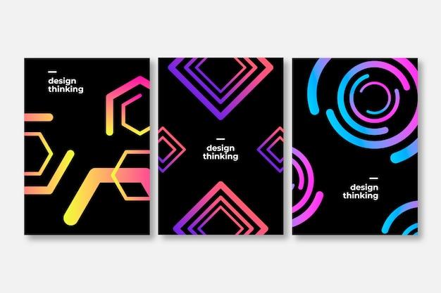 Formas abstratas de gradiente cobrem o estilo de coleção