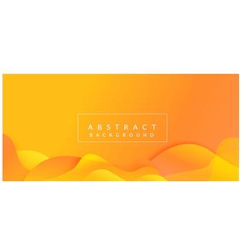 Formas abstratas de gradiente design moderno fundo amarelo vector