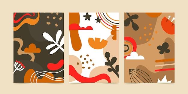 Formas abstratas desenhadas à mão cobrem a coleção