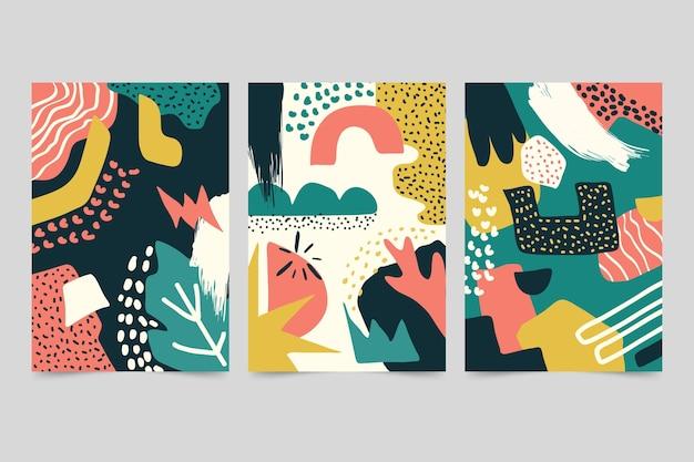 Formas abstratas desenhadas à mão cobrem o design