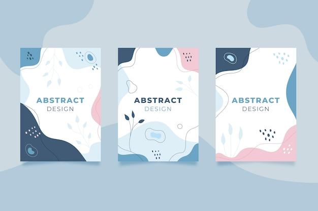 Formas abstratas desenhadas à mão cobrem o pacote