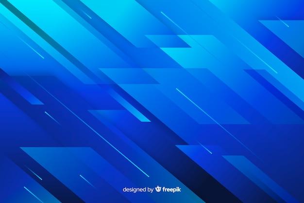 Formas abstratas e linhas de fundo azul