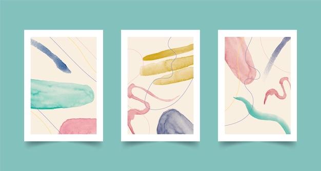 Formas abstratas em aquarela - capas