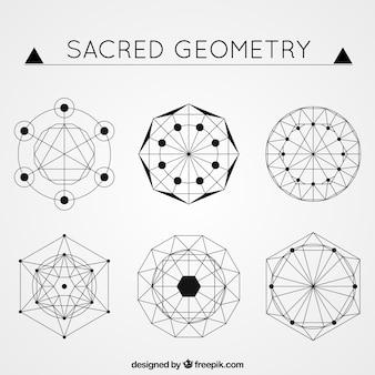 Formas abstratas em estilo geométrico