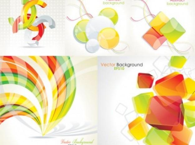 Formas abstratas geométricas de cores fundos