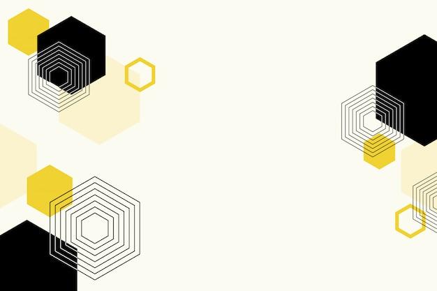 Formas abstratas planas hexagonais