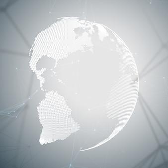 Formas abstratas rede futurista Vetor Premium
