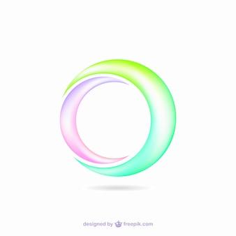 Formas circulares coloridas gaze