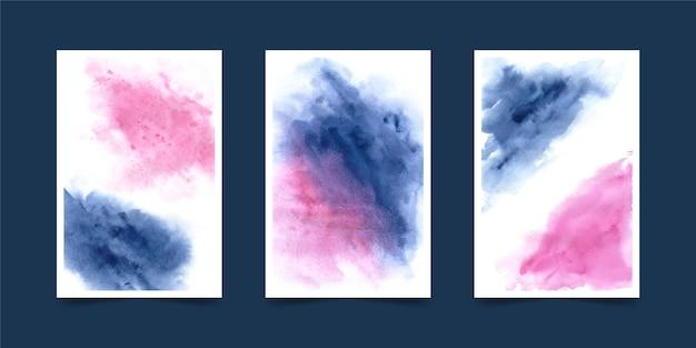Formas de aquarela de coleção de capa