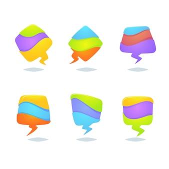 Formas de balões de fala coloridas