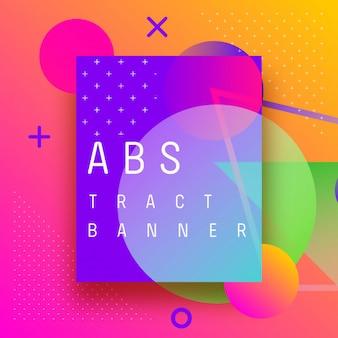 Formas de banner abstrato de fundo e spray de gradientes