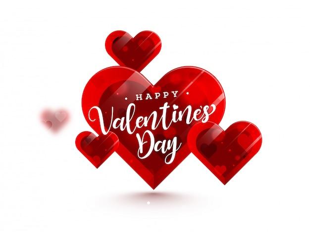 Formas de coração brilhante para feliz dia dos namorados.
