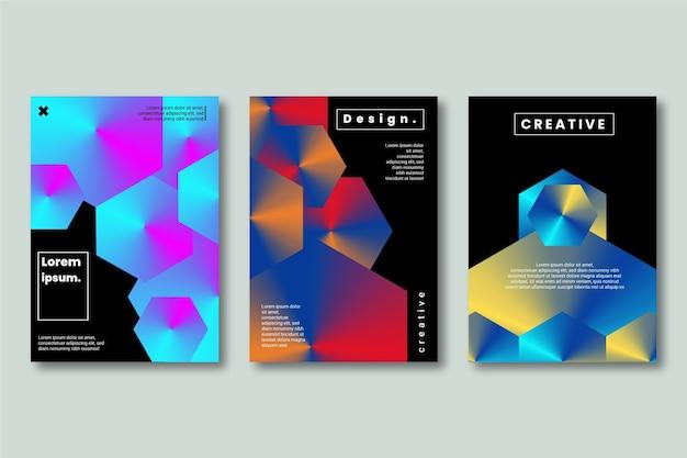Formas de design criativo em fundo escuro
