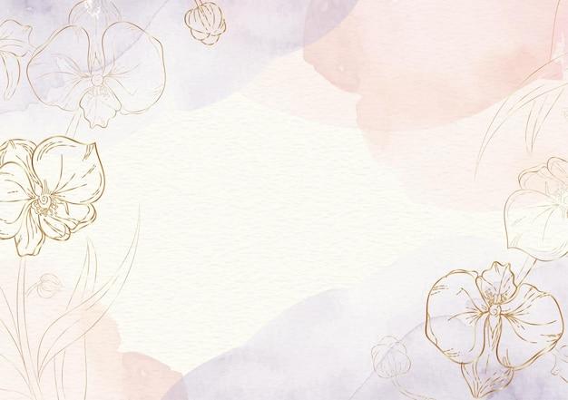 Formas de flores com fundo inicial