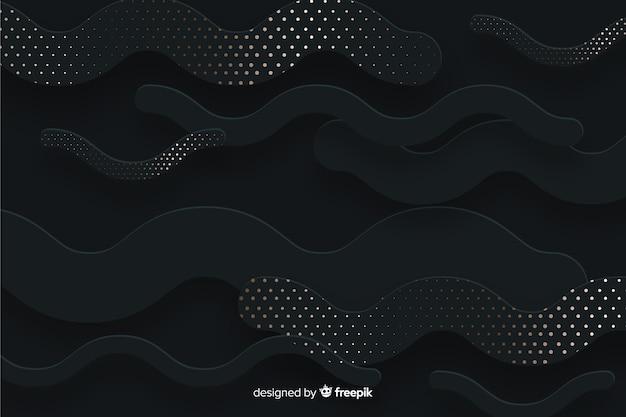 Formas de fundo com efeito de meio-tom