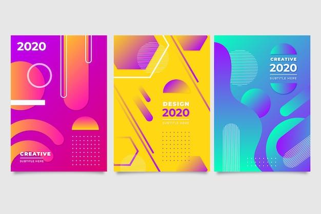 Formas de gradiente cobrem o estilo de coleção