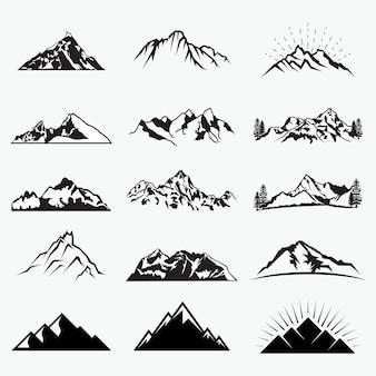 Formas de montanha de vetor