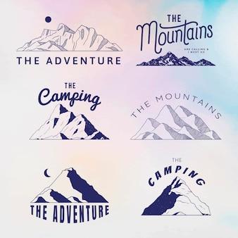 Formas de montanha para logotipo