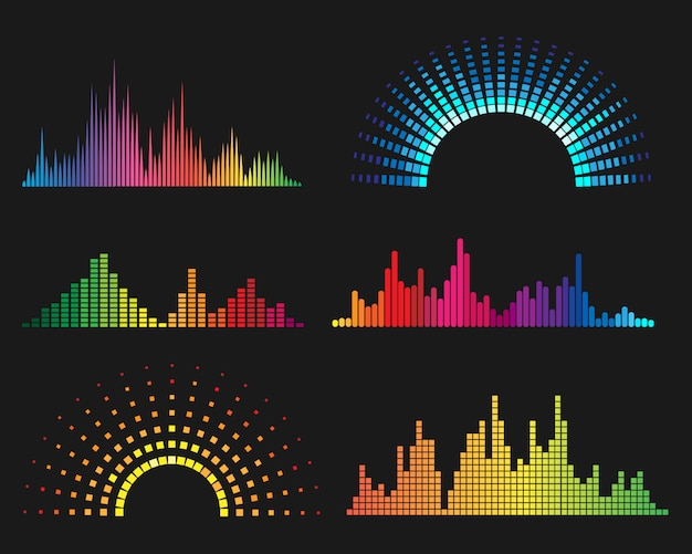 Formas de onda digitais de música