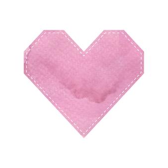Formas de padrão de coração rosa em fundo branco
