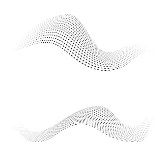 Formas de pontos de meio-tom. ondas dinâmicas se formam.