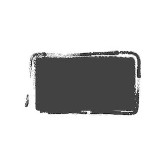 Formas de retângulo pintado vintage do grunge. ilustração vetorial.