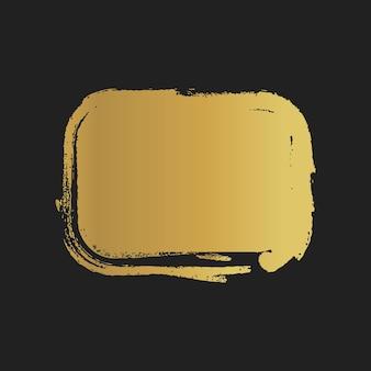 Formas de retângulo pintado vintage dourado de grunge. ilustração vetorial.