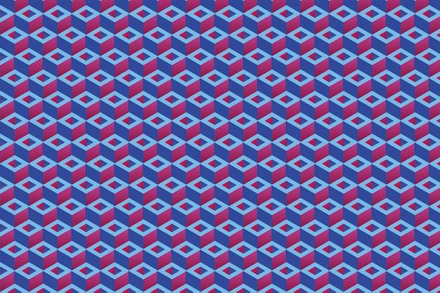 Formas de retângulo repetitivo, fundo 3d