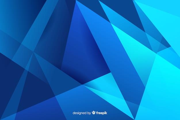 Formas de tons de azul gradiente abstrato