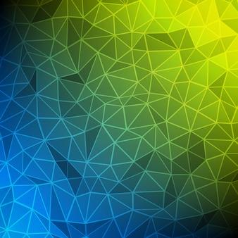 Formas de triângulos poligonais 3d abstrato wireframe