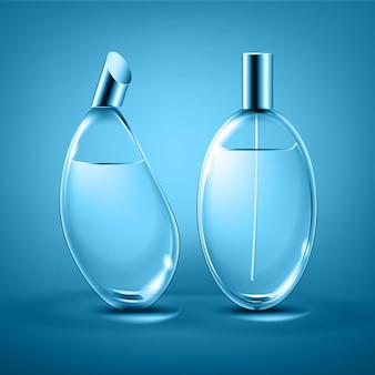 Formas diferentes de frascos de perfume