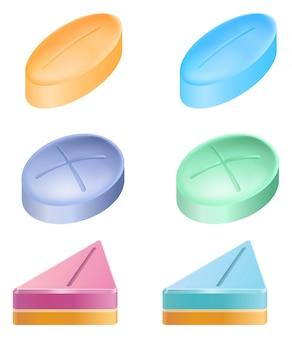 Formas diferentes de pílulas medicinais