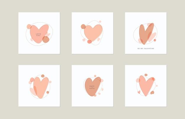 Formas e corações orgânicos abstratos