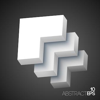 Formas geométricas abstratas 3d brancas