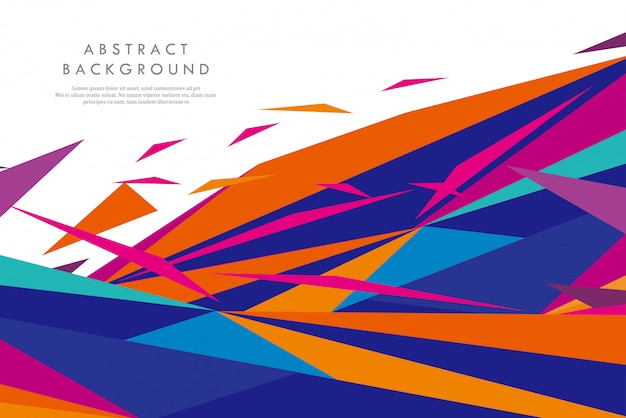 Formas geométricas abstratas coloridas criativas