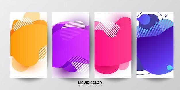 Formas geométricas abstratas de cor gradiente líquido