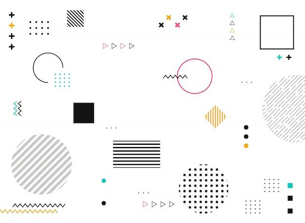 Formas geométricas abstratas do padrão moderno colorido