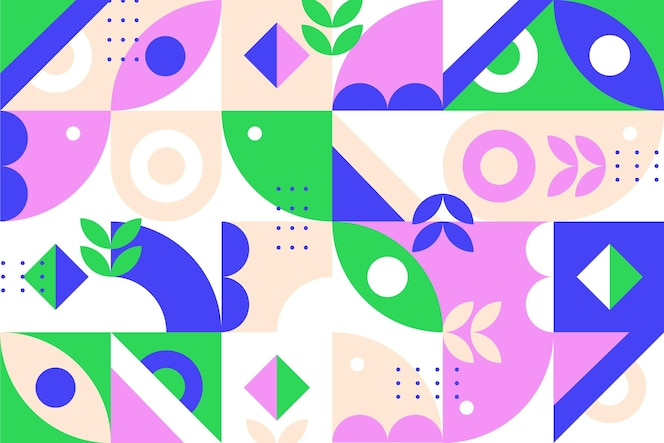 Formas geométricas abstratas em design plano