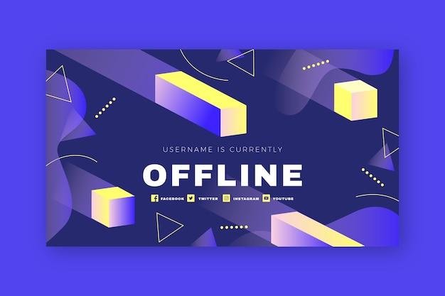 Formas geométricas abstratas estremecem banner offline